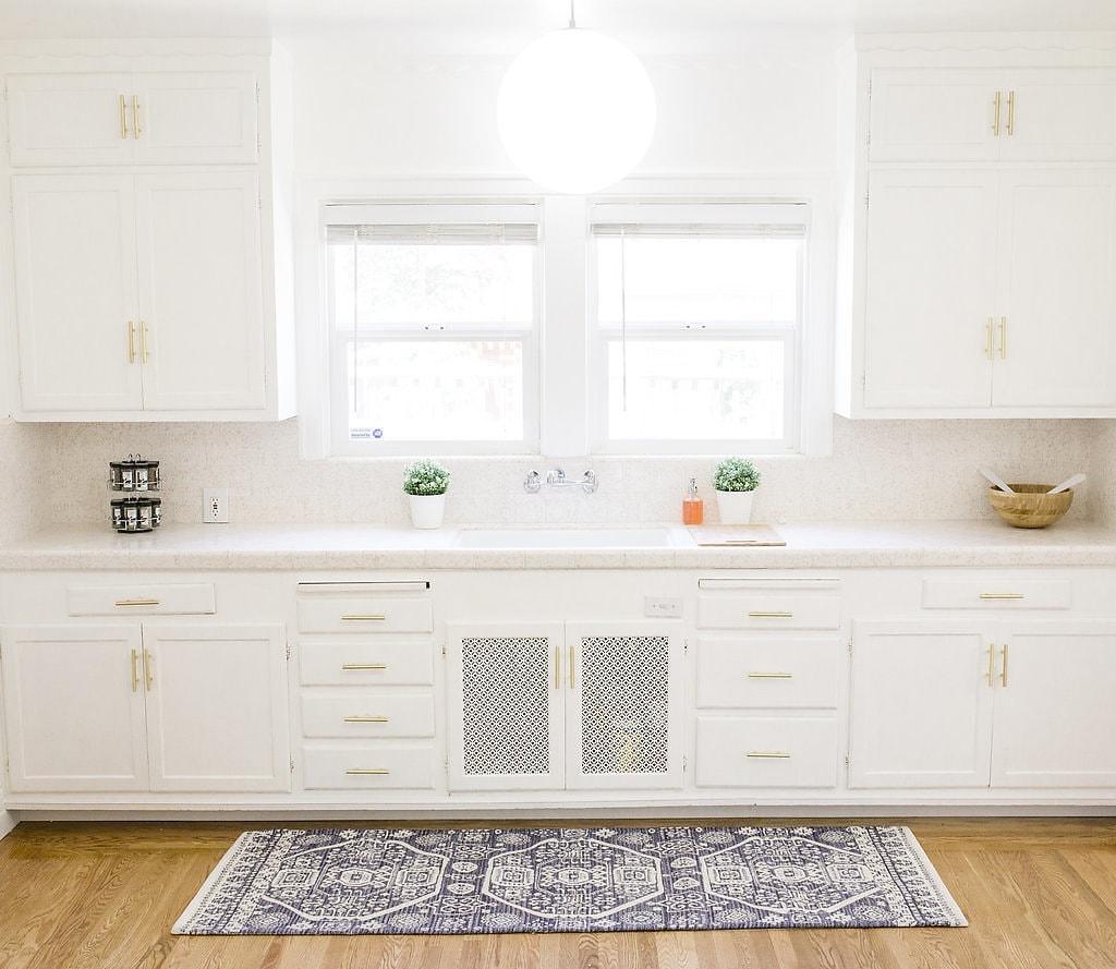 White & Gold Kitchen