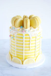 yellow cake with sprinkles