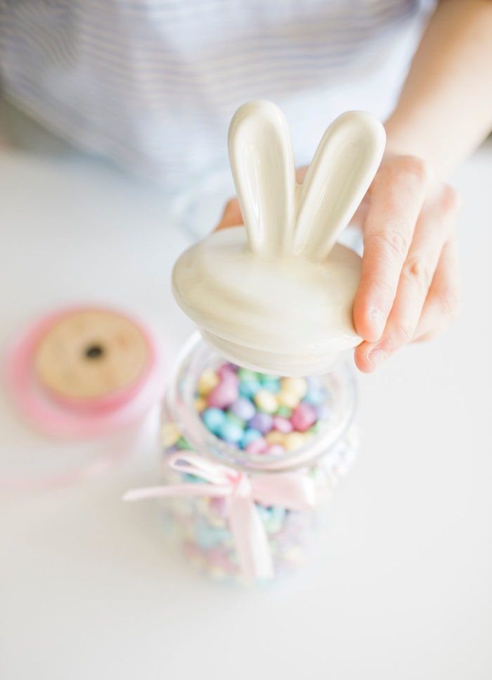 candy in bunny jar