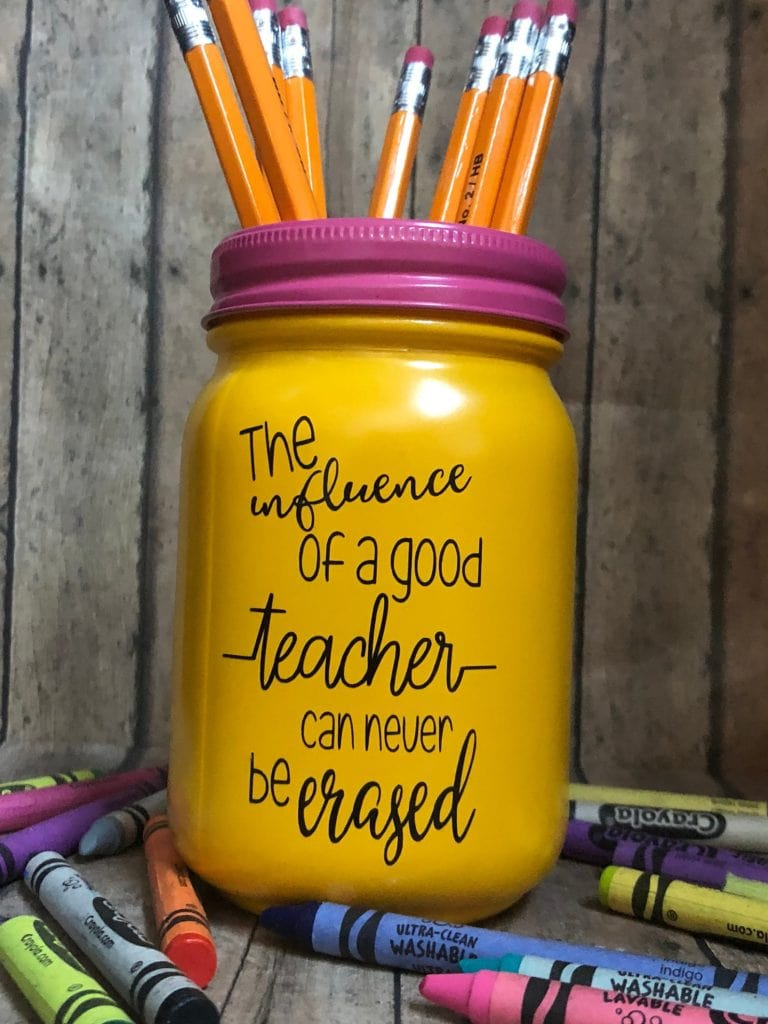 cup with pencils