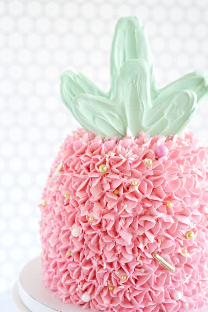 Pink Pineapple Cake Best Friends For Frosting