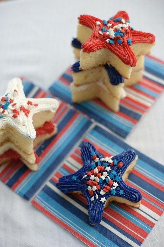 mini star cakes