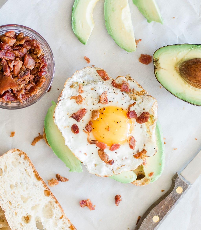 bacon on avocado toast