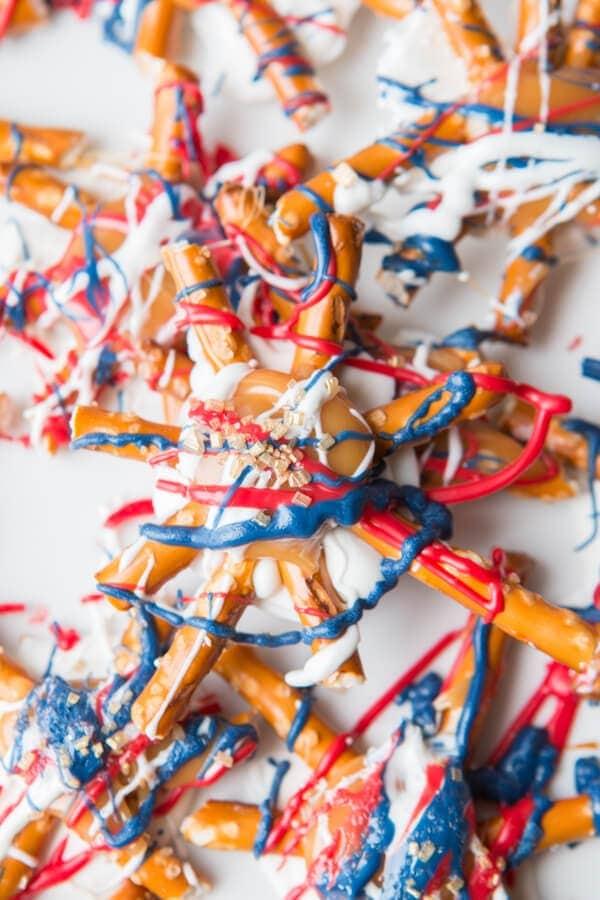 frosting on pretzels