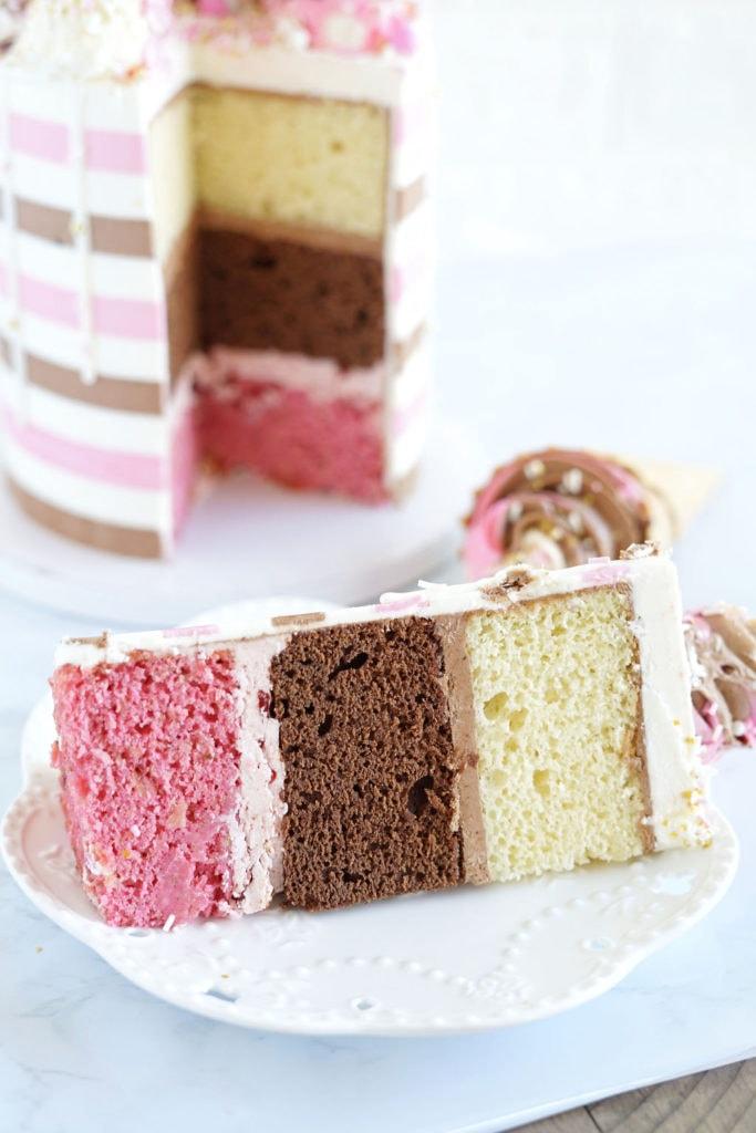 vanilla cake slice