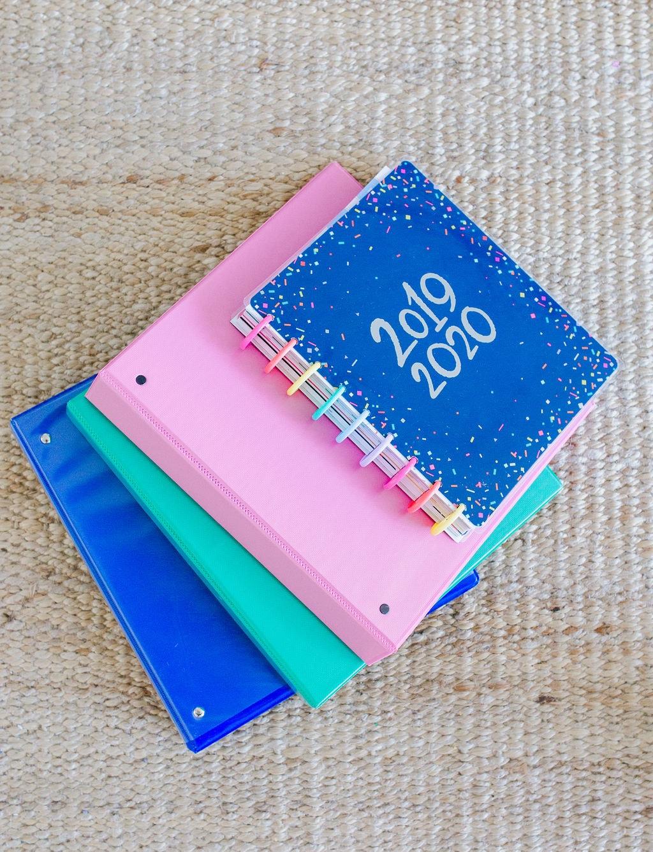 pink binder