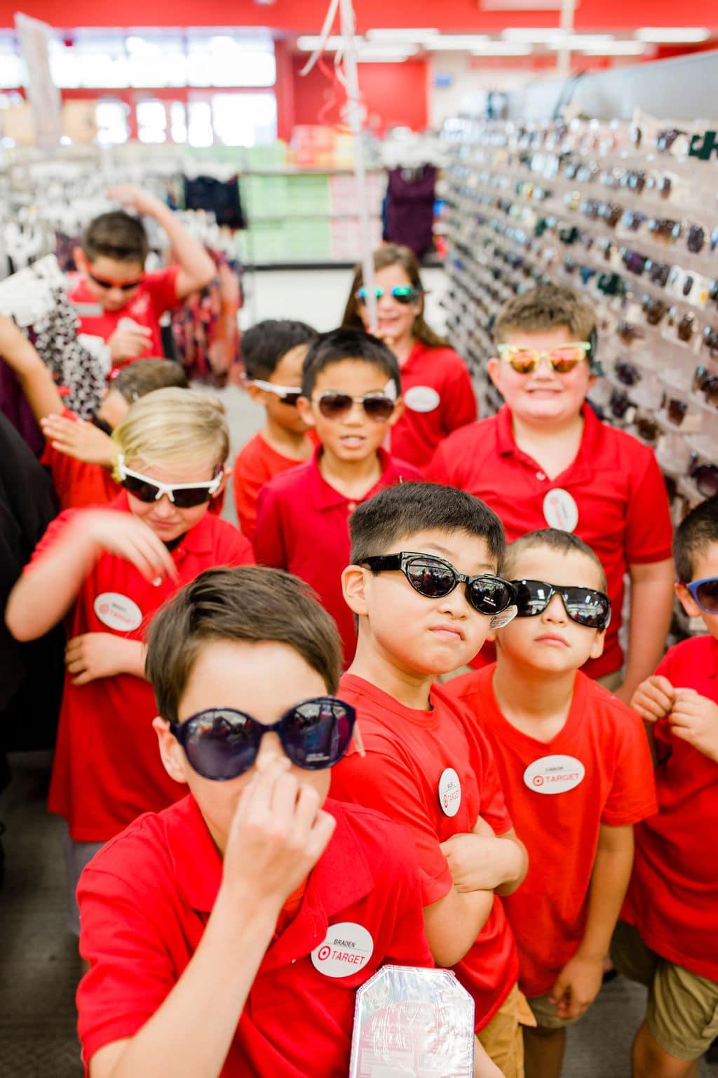 kids wearing sunglasses