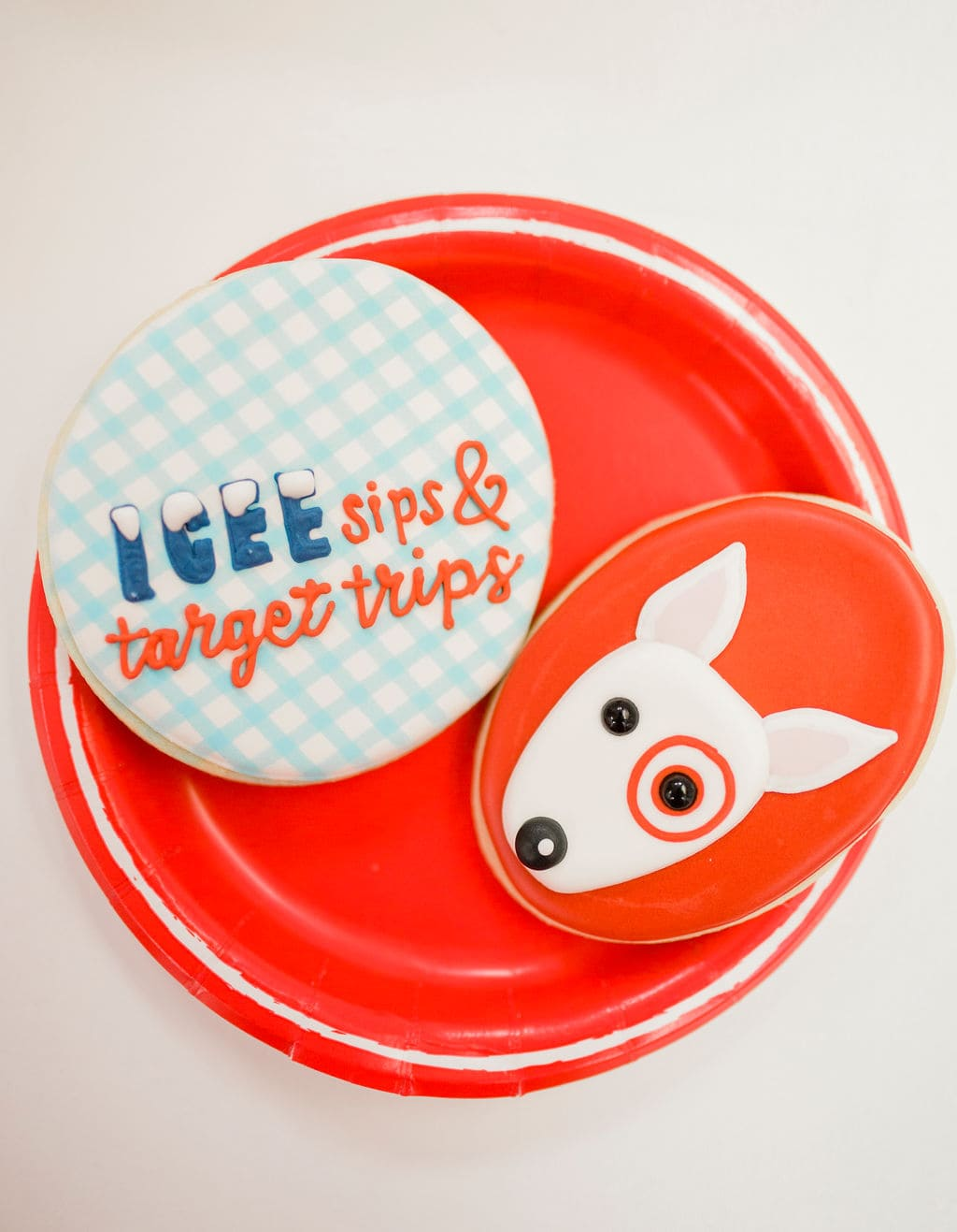 target dog on cookies