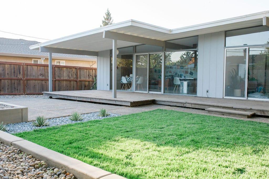 Mid Century Modern Backyard Backyard Makeover