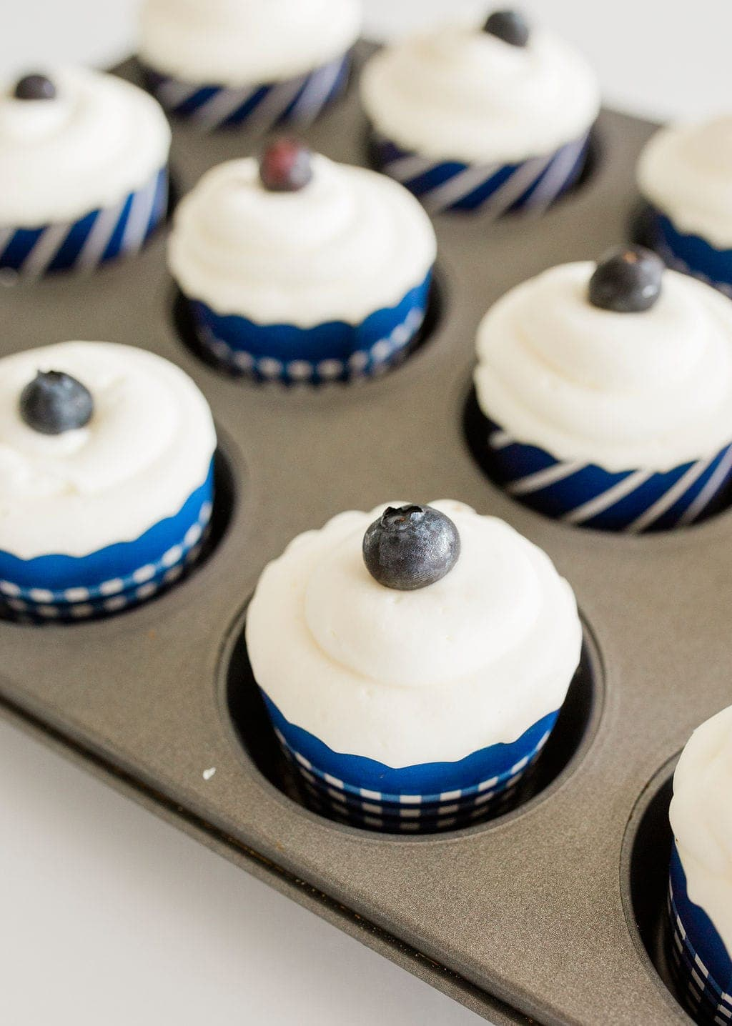 blueberries on cupcakes