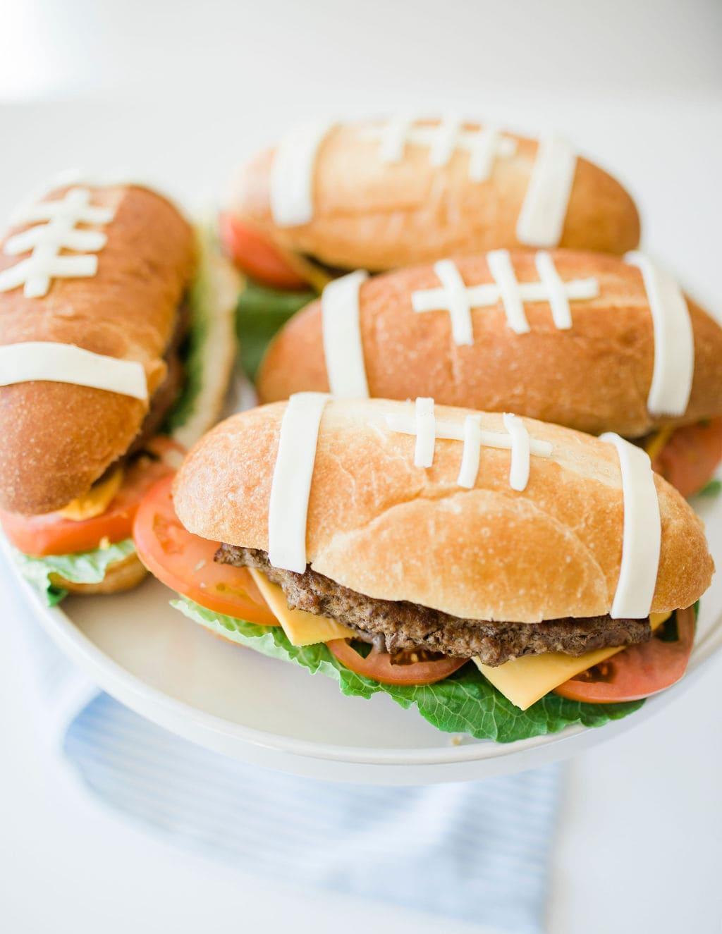 hamburger shaped food