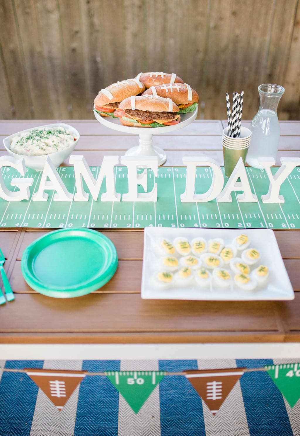 game day sign on table