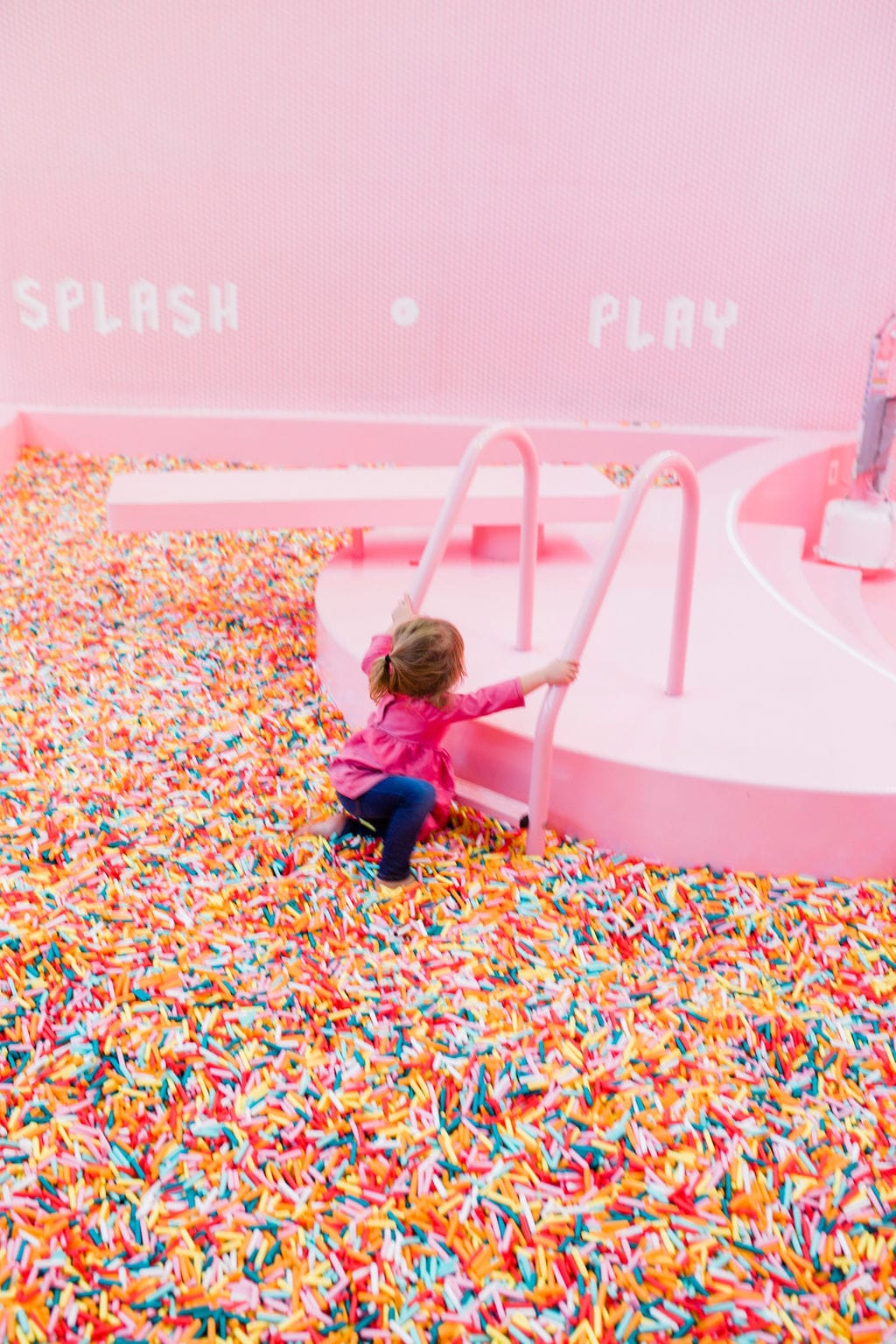 colored sprinkle pool