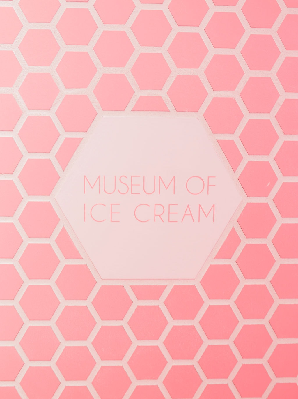 pink museum of ice cream sign
