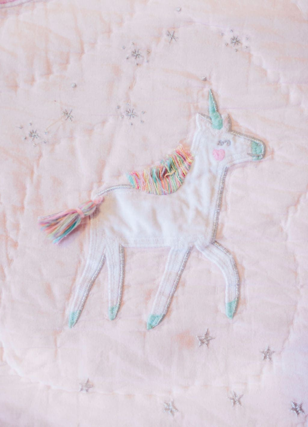 unicorn on blanket