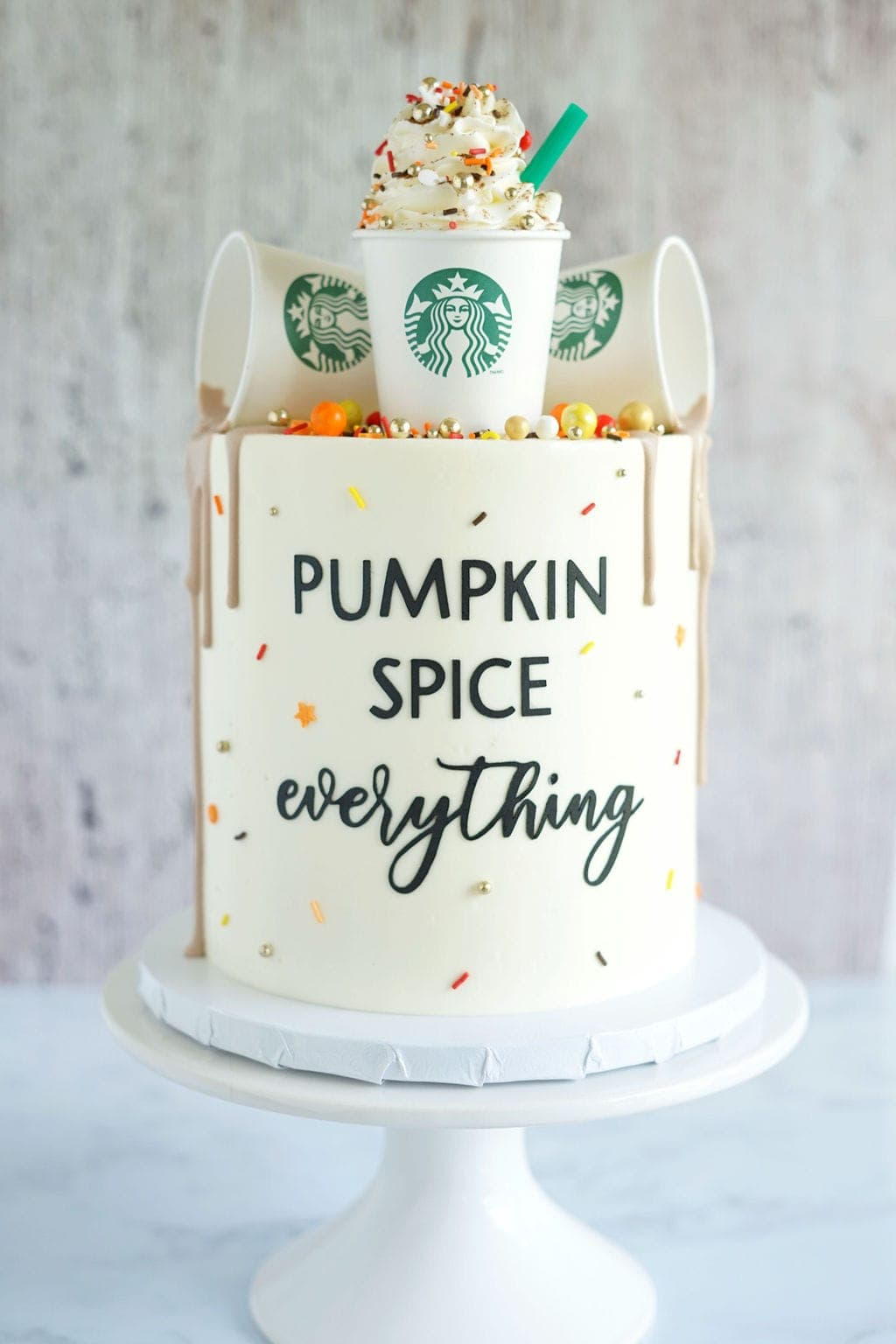 sprinkles on cake