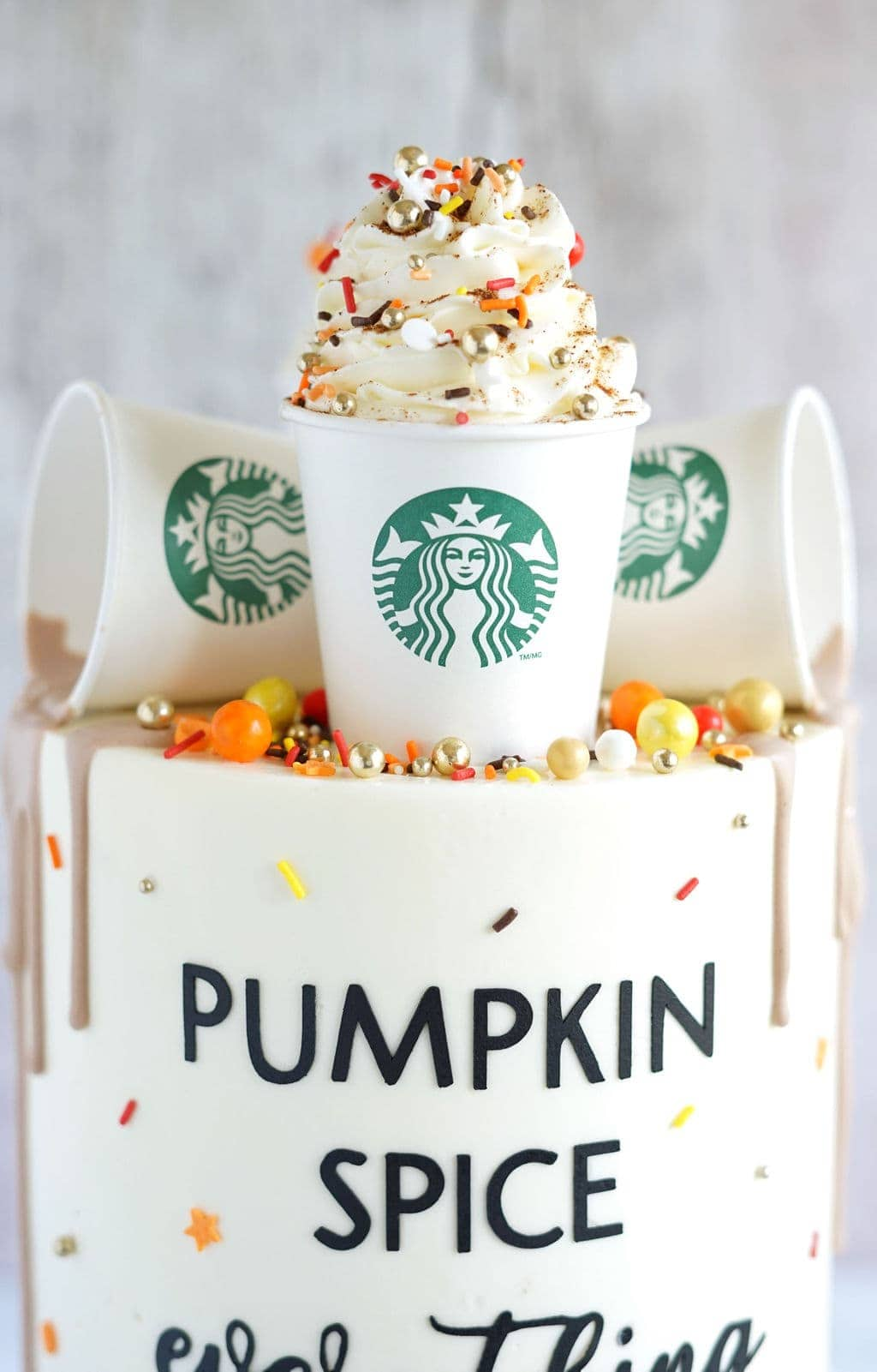 whipped cream on cake