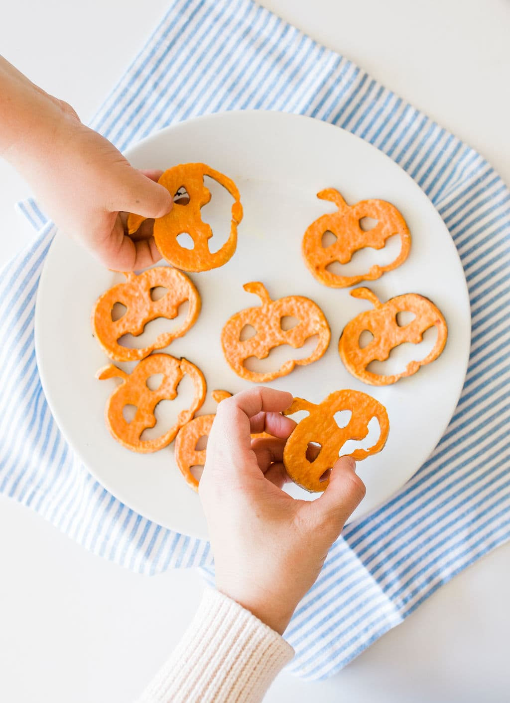 pumpkin sweet potato slices