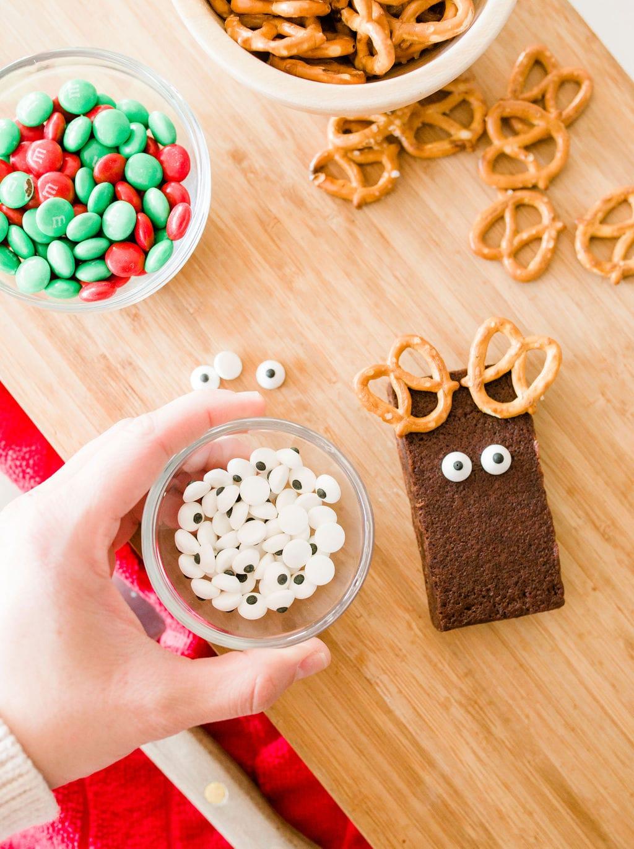 google eyes on brownies