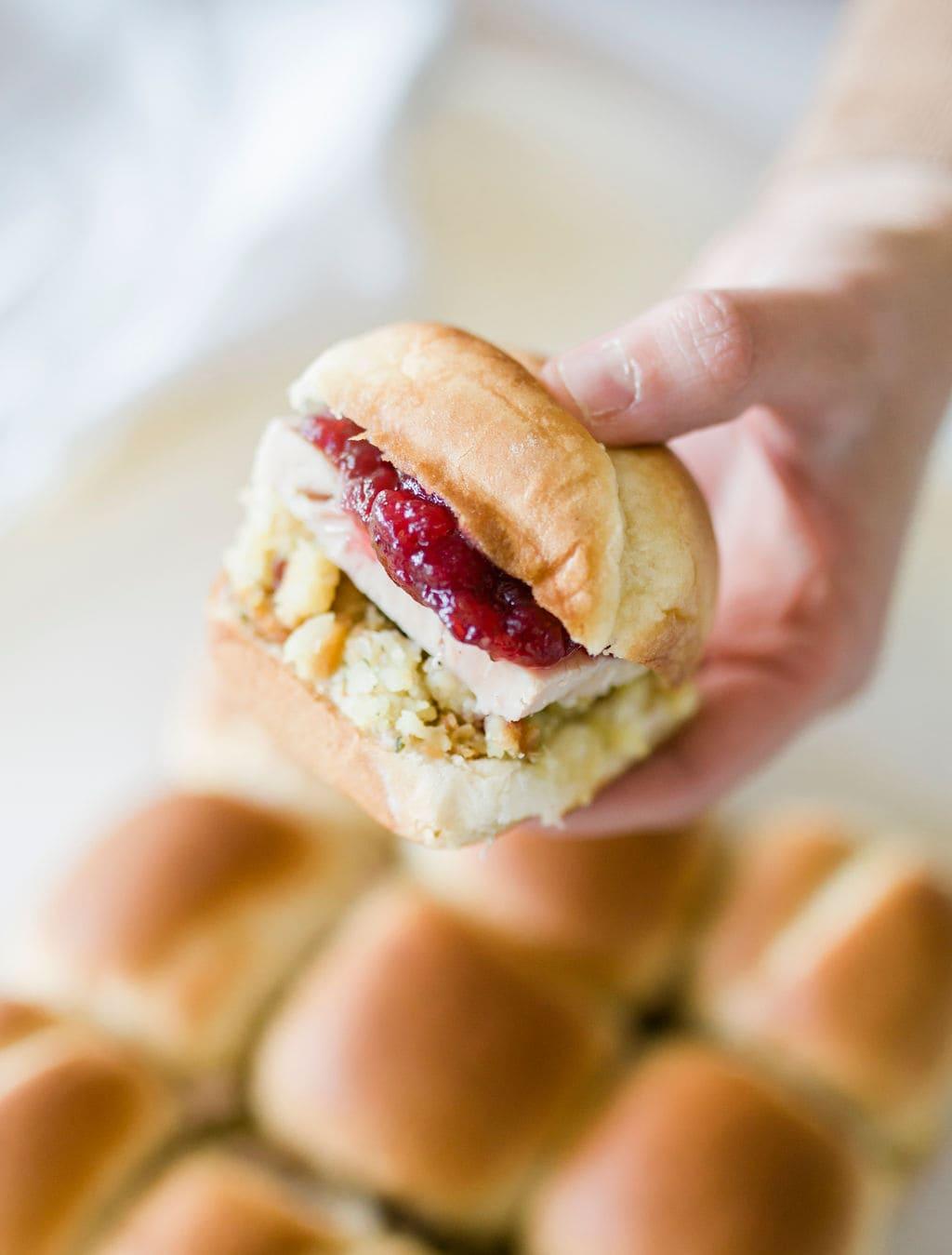 holding sandwich
