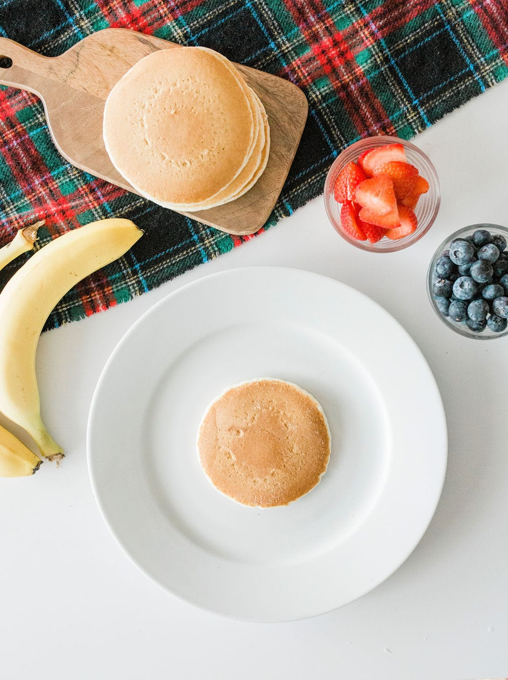 fruit on pancakes