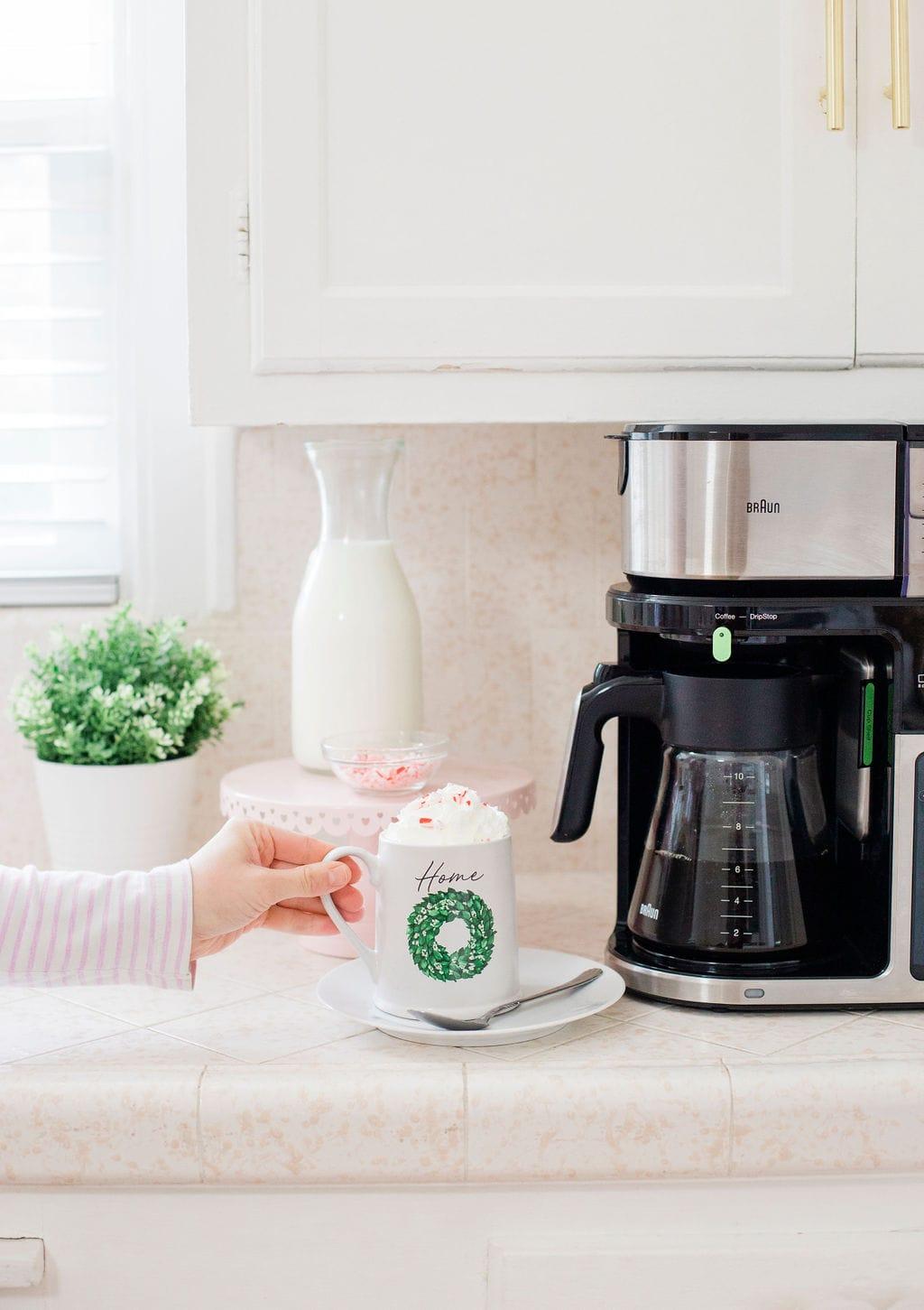coffee mug on counter