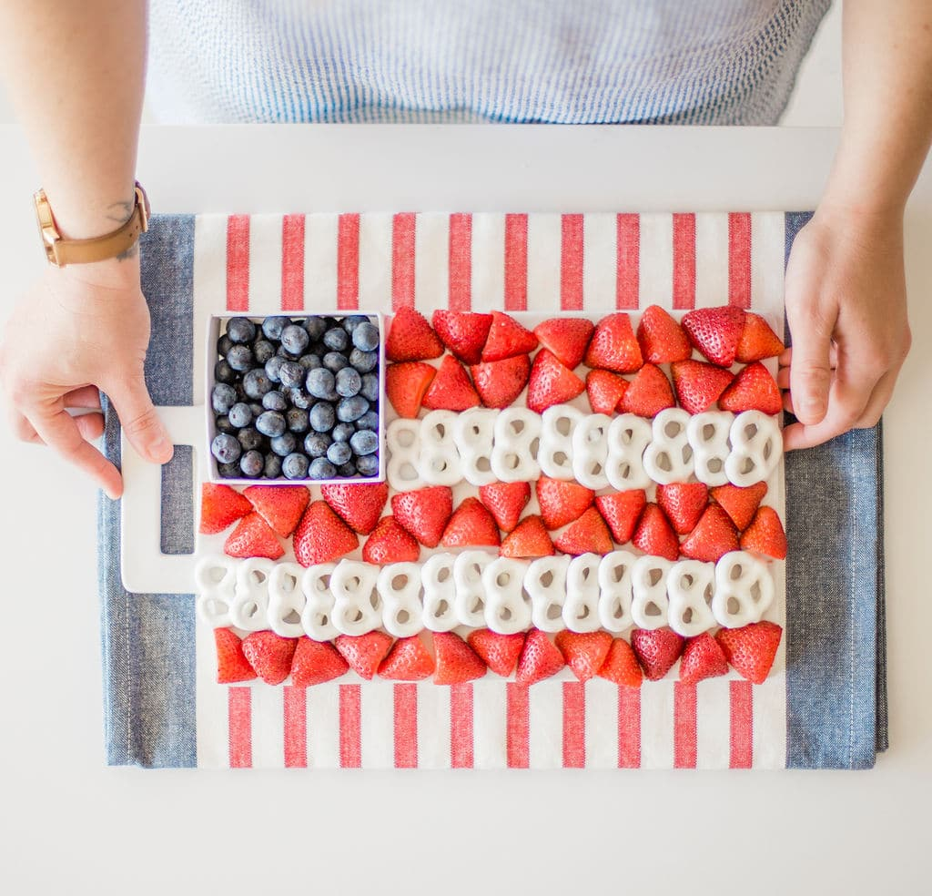 4th of July Fruit Tray