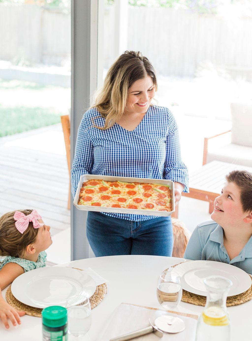 Sheet-Pan Pizza With Magic Crust