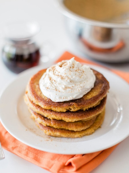 plate of pumpkin pancakes