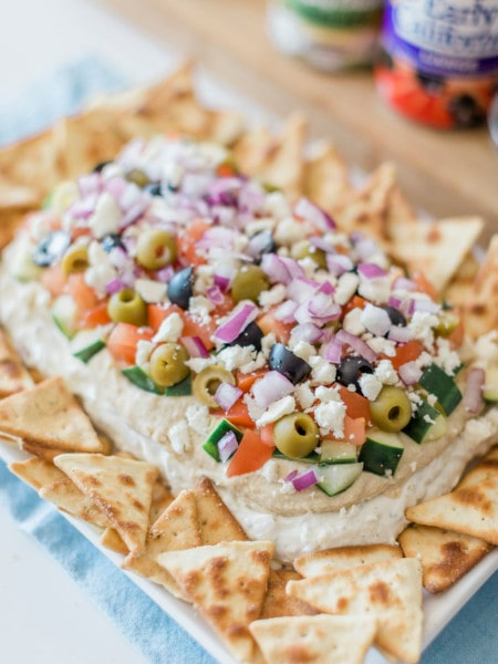 greek dip with pita chips