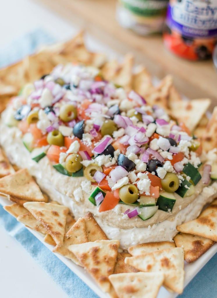 greek dip with pita chips